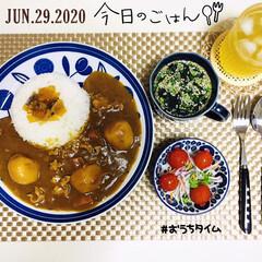至福の時間/おうちタイム/フォロー大歓迎/カレーライス/ランチョンマット/セリア/...         6/29(月) 夕食  …