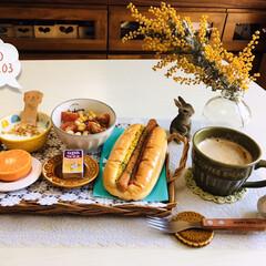 ネスカフェ エクセラ ふわラテ ネスレ NESCAFE(その他コーヒー)を使ったクチコミ「       4/3(金) 朝食  PA…」