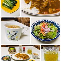おうちごはん/3coins/食欲の秋/夕食/ナチュラルキッチン/シルク/...                 10/8…