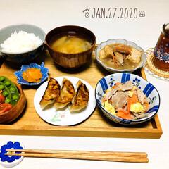 ナチュラルキッチン/ひやしあめコップ/ウッドトレイ/至福の時間/おうちごはん/夕食/...         1/27(月) 夕食  …