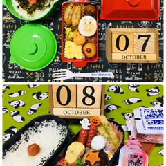 ◆オリヒロ ぷるんと蒟蒻ゼリーパウチ ピーチ 20g×6個(ダイエットお菓子)を使ったクチコミ「10/7(月) 息子夜勤弁当🍱10/8(…」