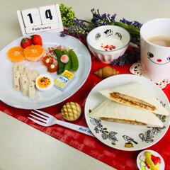 朝食/salut!/LIMIAごはんクラブ/フォロー大歓迎/わたしのごはん/おうちごはんクラブ/... 2/14(木) 朝食 ランチパックTOK…