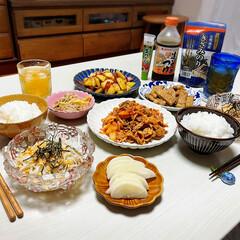 暮らし/ナチュラルキッチン/100均/キッチン雑貨/おうちごはん/夕食/...  🏠おうちごはん🍚 *ごはん *冷やした…(1枚目)