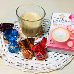 チョコレート/飲み物/フォロー大歓迎/スイーツ 至福の時間 ☕︎ストロベリーの芳醇な風味…