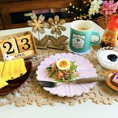 小玉パイン/フード/朝食/afternoon tea/ナチュラルキッチン/3coins/...         4/23(火) 朝食  …