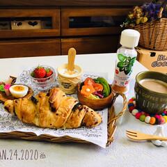 ネスカフェ エクセラ ふわラテ キャラメル 20P×2箱 | ネスカフェ(インスタントコーヒー)を使ったクチコミ「       1/24(金) 朝食  フ…」