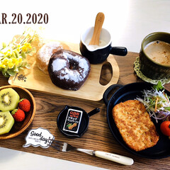 ネスカフェ エクセラ ふわラテ ネスレ NESCAFE(その他コーヒー)を使ったクチコミ「        3/20(金) 朝食  …」