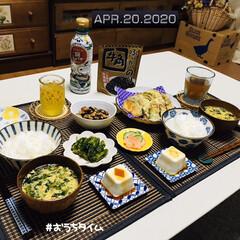 ピックルス 牛角ふりかけのり ごま香る旨塩味 袋20g×3袋(その他漬物、佃煮、ふりかけ)を使ったクチコミ「        4/20(月) 夕食  …」