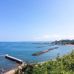 リミとも部/フォロー大歓迎/風景/日本海/海/空  今日も晴れ☀️穏やかな日本海