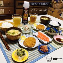 豆苗/フォロー大歓迎/ランチョンマット/ダイソー/至福の時間/おうち時間/...         5/11(月) 夕食  …
