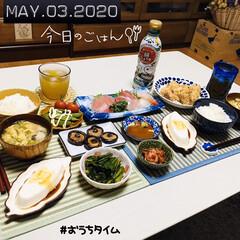 フォロー大歓迎/男前豆腐/ランチョンマット/ダイソー/至福の時間/おうち時間/...          5/3(日) 夕食  …