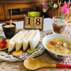 Flying Tiger/シルク/3coins/朝食/フォロー大歓迎/至福のひととき/...                6/18(…