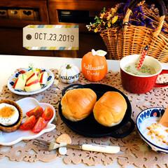風景/空/至福の時間/おうちごはん/食欲の秋/ナチュラルキッチン/...        10/23(水) 朝食  …