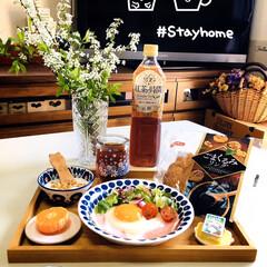 UCC 霧の紅茶 紅茶の時間 ストレートティー低糖 930ml /ストレートティー 紅茶(乳飲料 、乳酸菌飲料)を使ったクチコミ「        4/17(金) 朝食  …」