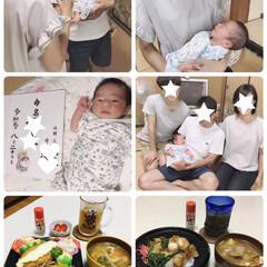 初孫/夕食/豚汁/中華丼/白身魚フライの海苔タル弁当/お弁当/...               2019.9…