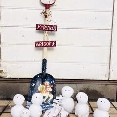 雪だるま/雪/冬 雪だるま
