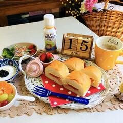 フード/朝食/3coins/フォロー大歓迎/LIMIAごはんクラブ/おうちごはんクラブ/...           4/15(月) 朝食…(1枚目)