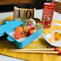 昼食/自分弁当/アンパンマンはんぺん/ハローキティ りんごはちみつ豆乳飲料/みきゃんゼリー/シルク/...             5/10(金) …