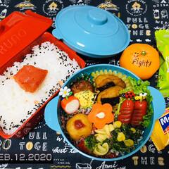 永谷園 ピンクの梅ごましお 45g(ふりかけ)を使ったクチコミ「        2/12(水) 主人弁当…」
