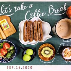 キウイ/フォロー大歓迎/Q.B.Bベビーチーズ サラミ&バ.../カルビーフルグラ糖質オフ/フジパン黒糖スナックサンド紅いも&.../パン/...         9/18(金) 朝食  …