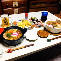 助六寿司/天婦羅/SB七味唐からし/至福の時間/フォロー大歓迎/鍋焼きうどん/...        2/23(日) 夕食 鍋焼…
