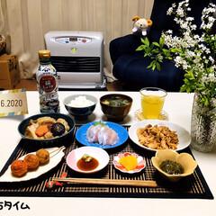 至福の時間/フォロー大歓迎/雪やなぎ/ランチョンマット/おうちタイム/おうちカフェ/...        4/16(木) 夕食  ご…
