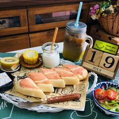 kiriクリームチーズ/PASCO明太子好きの明太子パン/朝食/シルク/フォロー大歓迎/至福のひととき/...                7/19(…