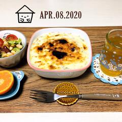 フォロー大歓迎/ランチョンマット/ひやしあめコップ/おうちカフェ/おうちごはん/夕食/...         4/8(水) 夕食 朝食…