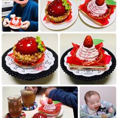 土台付きテーブル/孫/まんまる苺ケーキ/濃い苺のモンブラン/ケーキ/シャトレーゼ/...  2020.1.20(月)🙎🏻♂️51…