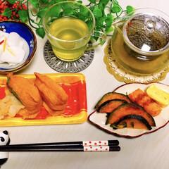 箸置き/昼食/冬/おうちごはん 遅いお昼 100円shopのパンダの箸置…(1枚目)