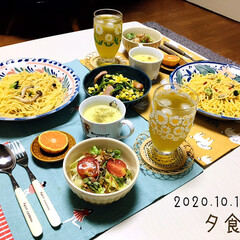 由良みかん/フライドオニオン/カルディ/節約/フォロー大歓迎/冷凍パスタ/...        10/18(日) 夕食 *…