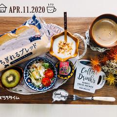 ネスカフェ エクセラ ふわラテ ネスレ NESCAFE(その他コーヒー)を使ったクチコミ「       4/11(土) 朝食  お…」