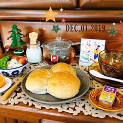 至福の時間/おうちごはん/クリスマス雑貨/クリスマスツリー/紅茶/カレルチャペック/...       12/1(日) 朝食  おは…