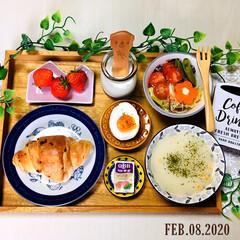 味の素 カップスープ ポタージュ16袋 272g まとめ買い(スープ)を使ったクチコミ「       2/8(土) 朝食  神戸…」
