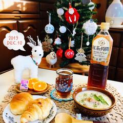 ランチョンマット/至福の時間/おうちごはん/クリスマス/クリスマスツリー/朝食/...         12/10(火) 朝食 …
