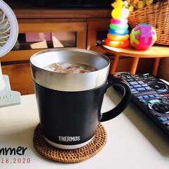 サーモス保温マグカップ240mlJDC241WH | サーモス(マグカップ)を使ったクチコミ「 食器棚の整理をしてたらTHERMOSの…」