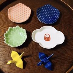DAISO/箸置き/豆皿/ダイソー/100均/キッチン雑貨/...  最近のお気に入りDAISOの豆皿と箸置…