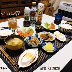 男前豆腐/フォロー大歓迎/ナチュラルキッチン/KOMERI/ランチョンマット/至福の時間/...         4/23(木) 夕食  …