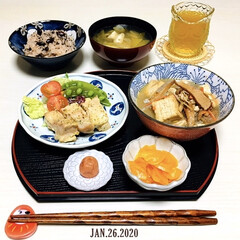 至福の時間/おうちごはん/3coins/ナチュラルキッチン/夕食/食事情/...         1/26(日) 夕食  …