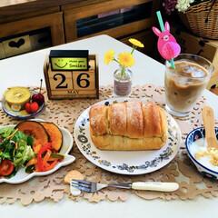 朝食/フライングタイガー/ナチュラルキッチン/シルク/3coins/フォロー大歓迎/...                5/26(…