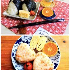 食欲の秋/おにぎりアクション/おうちごはん/朝食/おにぎり/ダイソー/...  昨日と今日の朝食🍙🍙おにぎりアクション…(1枚目)