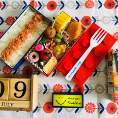 LEGO弁当箱/KAGOME野菜生活100タンカン.../自分弁当/シルク/3coins/フォロー大歓迎/...             7/9(火) 自…