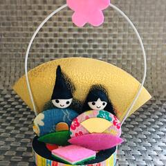 お雛様/雛祭り/雛人形/フォロー大歓迎/季節の飾り ひなかざりスタンド/ダイソー/...  DAISOの季節の飾り🎎ひなかざりスタ…(1枚目)