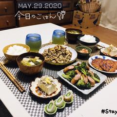 フォロー大歓迎/至福の時間/stayhome/おうち時間/セリア/ランチョンマット/...         5/29(金) 夕食  …