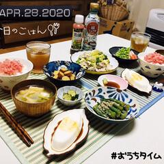 フォロー大歓迎/おすすめアイテム/ランチョンマット/シルク/ドン・キホーテ/ダイソー/...         4/28(火) 夕食  …