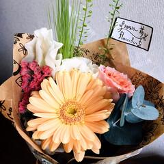 フォロー大歓迎/flower&café りとるがぁでん萌/息子/ミニ花束/ホワイトデー/住まい/...        2020.3.14(土) …