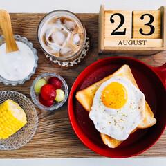 うまい村デイリー S&B マジックソルト オリジナル 80g x5(その他調味料、料理の素、油)を使ったクチコミ「        8/23(日) 朝食  …」