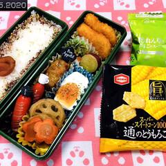 フォロー大歓迎/おやつ/亀田製菓 通のとうもろこし6袋詰/ほうれん草とたまごのスープ/花ちりめん/味梅/...        9/15(火) 主人弁当🍱…