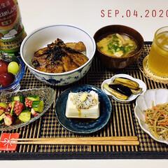 フォロー大歓迎/至福の時間/キッチン雑貨/リミとも部/ランチョンマット/暮らし/...         9/4(金) 夕食  🐷…