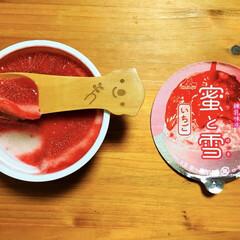 氷菓/morinaga蜜と雪いちご/フォロー大歓迎/至福のひととき/LIMIAスイーツ愛好会/100均/...     お風呂上がりにmorinaga蜜…